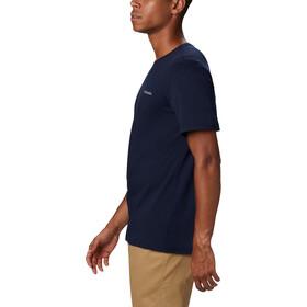 Columbia Rapid Ridge Back Graphic T-Shirt Homme, collegiate navy csc textured dot